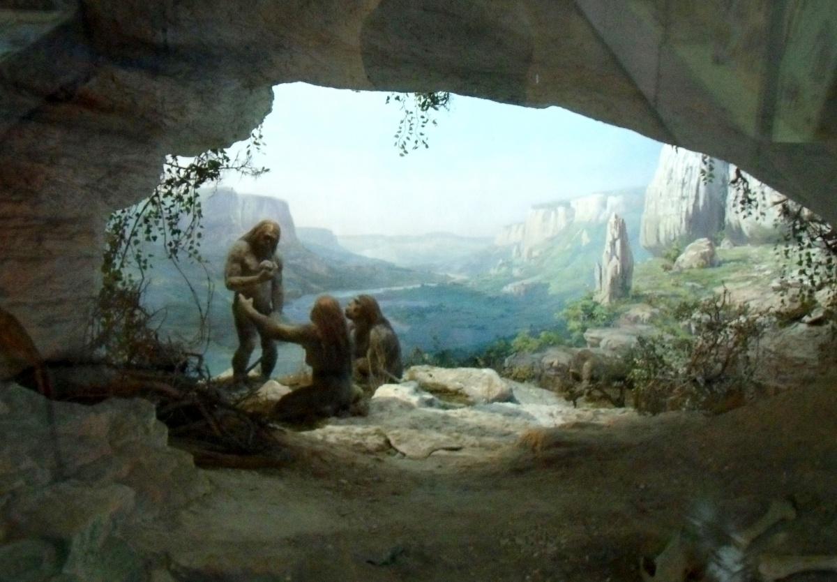 Пещерные первобытные люди